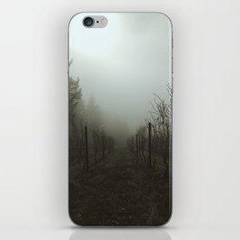 Foggy Morning Vineyard iPhone Skin