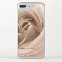 Rose in sepia Clear iPhone Case
