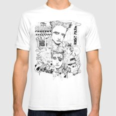 Fight Club White MEDIUM Mens Fitted Tee