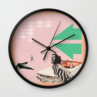 mustang Wall Clocks featuring Mustang Sally by Nope