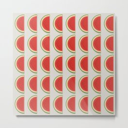 'The Watermelon' - Fresh Fruit Study Metal Print