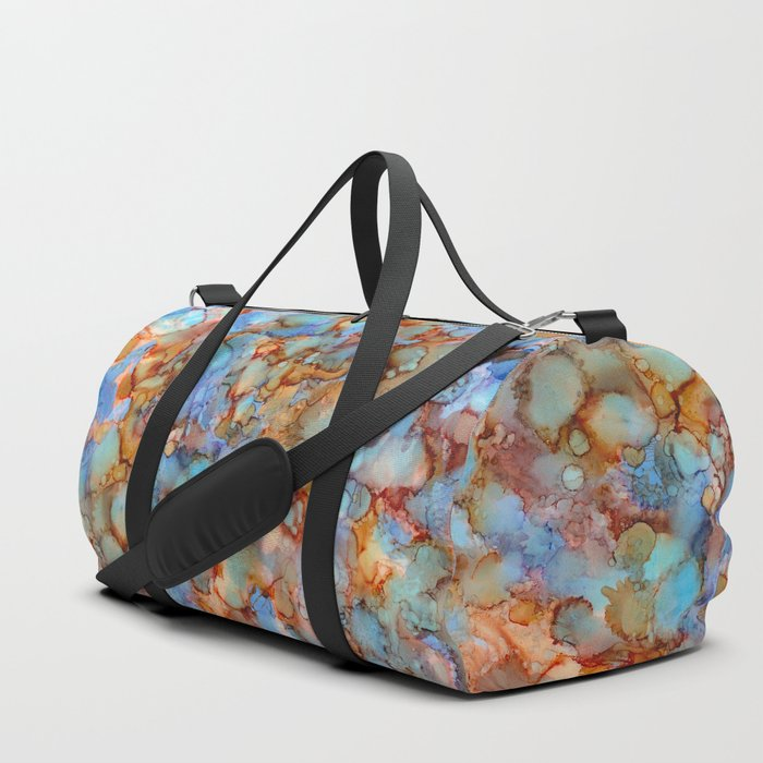 Evening in Autumn - Alcohol ink painting Duffle Bag