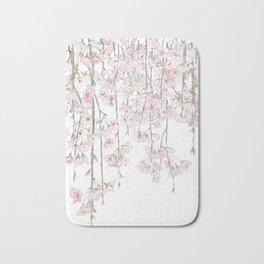 pink cherry blossom spring 2018 Bath Mat