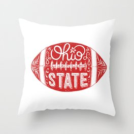 Ohio State Football Throw Pillow