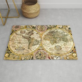 Gorgeous Old World Map Art from 15th Century Rug