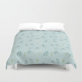 Robot Babies Captioned Duvet Cover