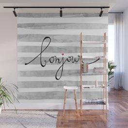 bonjour Wall Mural