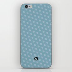 U13: blue droplet iPhone & iPod Skin