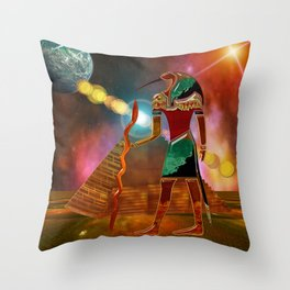 Ancient Secrets THOTH 3D Scifi Egyptian Throw Pillow