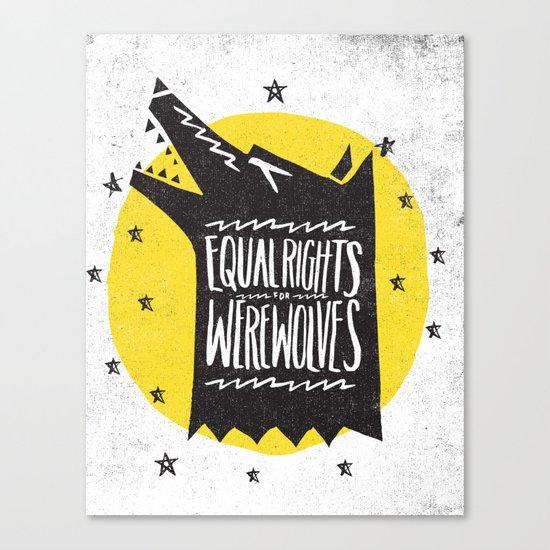 WEREWOLF RIGHTS Canvas Print