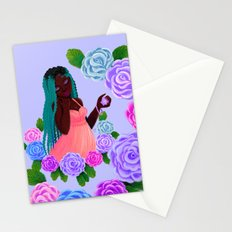 Turquoise Twists Stationery Cards