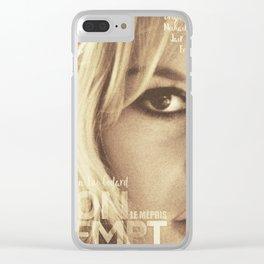 Brigitte Bardot, Contempt, movie poster, Le Mépris, Jean-Luc Godard, Fritz Lang, Clear iPhone Case