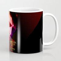 elvis presley Mugs featuring Elvis Presley- Pop art by sarvesh