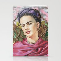 frida Stationery Cards featuring Frida by Mark Satchwill Art