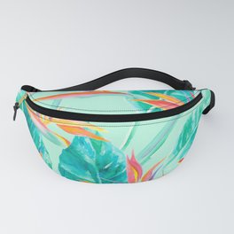 Birds Of Paradise Mint Fanny Pack