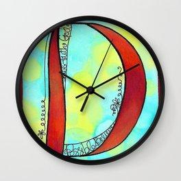 D in full bloom Wall Clock