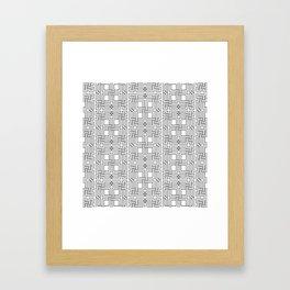 Black and White Islamic Art Geometric Patterns Framed Art Print