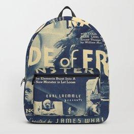 Bride of Frankenstein, vintage horror movie poster Backpack