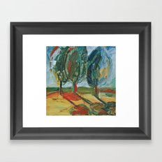 Trees. Framed Art Print