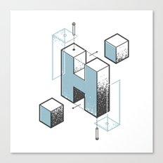 The Exploded Alphabet / H Canvas Print
