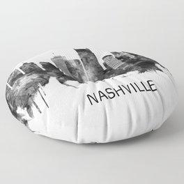 Nashville Tennessee Skyline BW Floor Pillow
