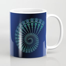 Spiral Tribal Turtle Shell Coffee Mug