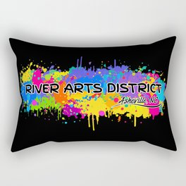 River Arts District - Asheville - AVL 17 Black Rectangular Pillow