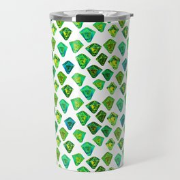 Green gemstone pattern. Travel Mug