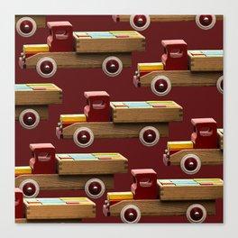 Vintage wooden toy truck #decor #society6 #buyart Canvas Print