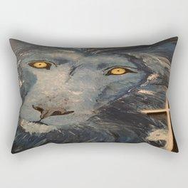Lion and the Lamb Rectangular Pillow