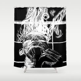 Ink and smoke Shower Curtain