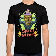 SPACE WIZARD MEDIUM Black Mens Fitted Tee