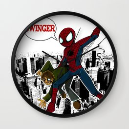 Swinger- A spiders story Wall Clock