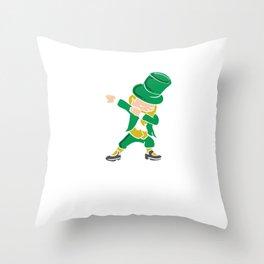 Happy St Patrick's Day Leprechaun Clover Shamrock Lacrosse Beer Fest Gift Throw Pillow