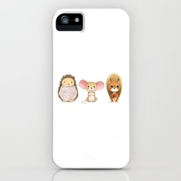 Hedghog, Mouse & Mr. Squirrel iPhone Case