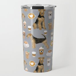 Airedale Terrier coffee pattern dog breed cute custom dog pattern gifts for dog lovers Travel Mug
