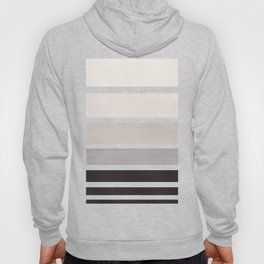 Grey Minimalist Watercolor Mid Century Staggered Stripes Rothko Color Block Geometric Art Hoody