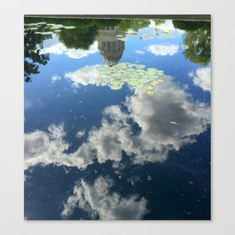 Reflection of Missouri Capitol at Governor's Garden Canvas Print