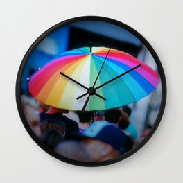 Colorful Umbrella Wall Clock