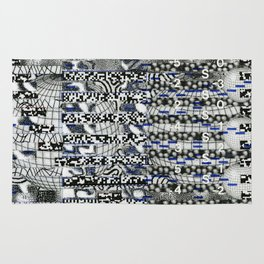 Clipboard'n (P/D3 Glitch Collage Studies) Rug