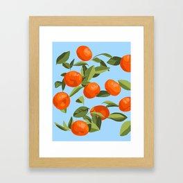 Good Luck Mandarin Oranges Framed Art Print