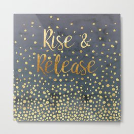 Rise and Release Yoga Meditation Metal Print