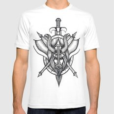 Viking White Mens Fitted Tee SMALL