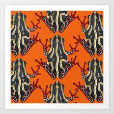 congo tree frog orange Art Print