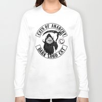 sons of anarchy Long Sleeve T-shirts featuring Cats of Anarchy by Dark Lord Pug