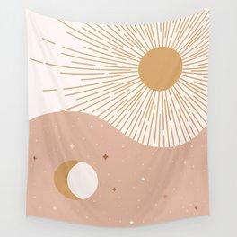 Yin Yang Blush - Sun & Moon Wall Tapestry