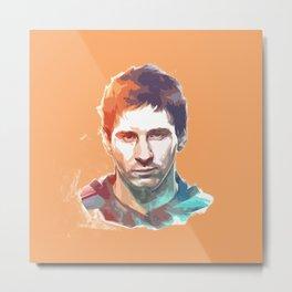 Messi Cool Metal Print
