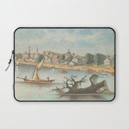 Vintage Pictorial View of Baton Rouge LA (1854) Laptop Sleeve