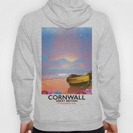 Cornwall beach vintage seaside poster Hoody
