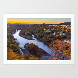 Branson Route 165 Scenic Overlook and Table Rock Lake Art Print
